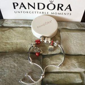 Pandora bangle bracelet  w charms